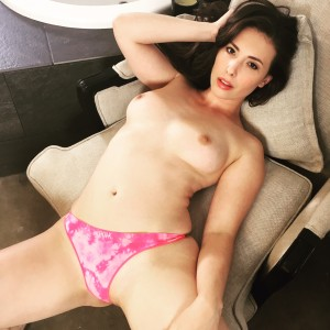 casey calvert thong boobs breasts sexy victorias secret pink